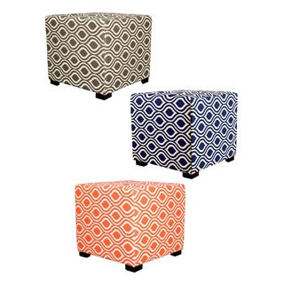 MJL Furniture Nicole 4-button Tufted Square Ottoman