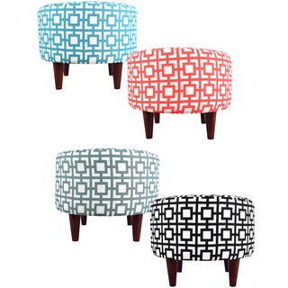 MJL Furniture Sophia Round Gigi Upholstered Ottoman