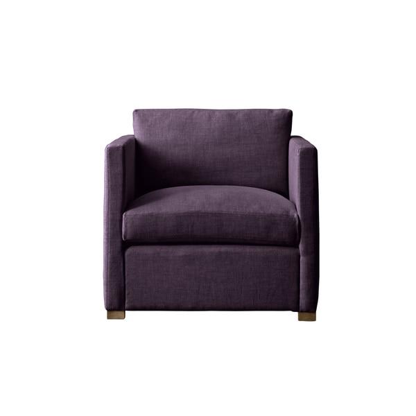 Aubergine Linen Gramercy Made to Order Chair