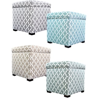 MJL Furniture Tami Fulton Square Storage Ottoman
