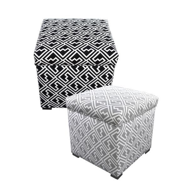 Attrayant MJL Furniture Tami Shakes Square Ikat Storage Ottoman