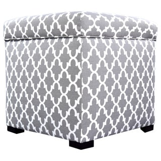 The Sole Secret Mini Square Fulton Upholstered Shoe Storage Ottoman