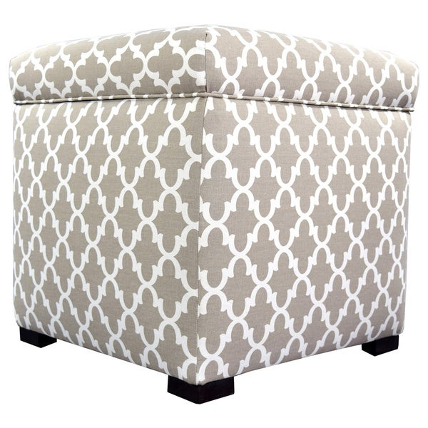 The Sole Secret Mini Square Fulton Upholstered Shoe Storage Ottoman   Free  Shipping Today   Overstock.com   17624798