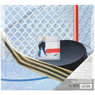 Sport & Hobby Post Bound Album 12inX12inHockey