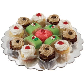 Cake Platters12in Silver Round 8/Pkg