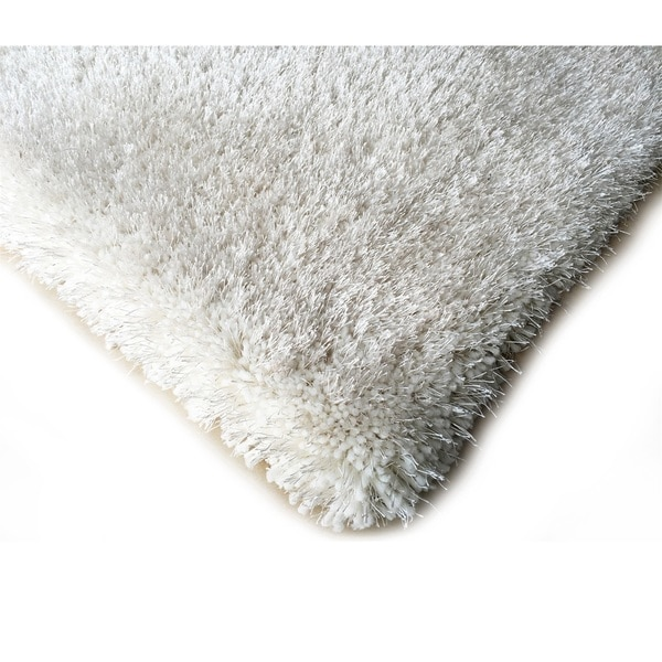 Shop Handmade Off White Shag Area Rug 5 X 7 On Sale