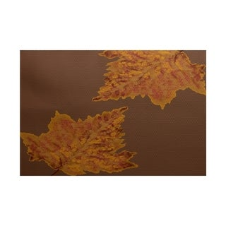 Leaves Dancing Flower Print Rug (2' x 3')