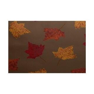 Dancing Leaves Flower Print Rug (2' x 3')
