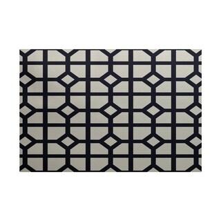 Don't Fret Geometric Print Rug (2' x 3')