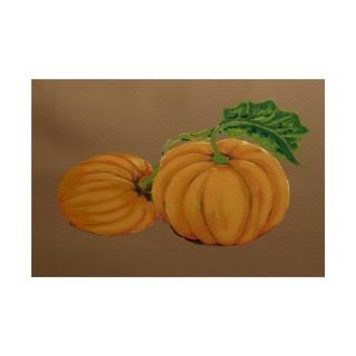 Pumpkin Patch Holiday Print Rug (5' x 7')