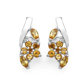 Malaika Sterling Silver 1ct Citrine Earrings