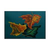 Autumn Colors Flower Print Rug (3' x 5')