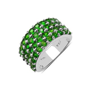 Olivia Leone Sterling Silver 3 1/10ct Chrome Diopside Ring