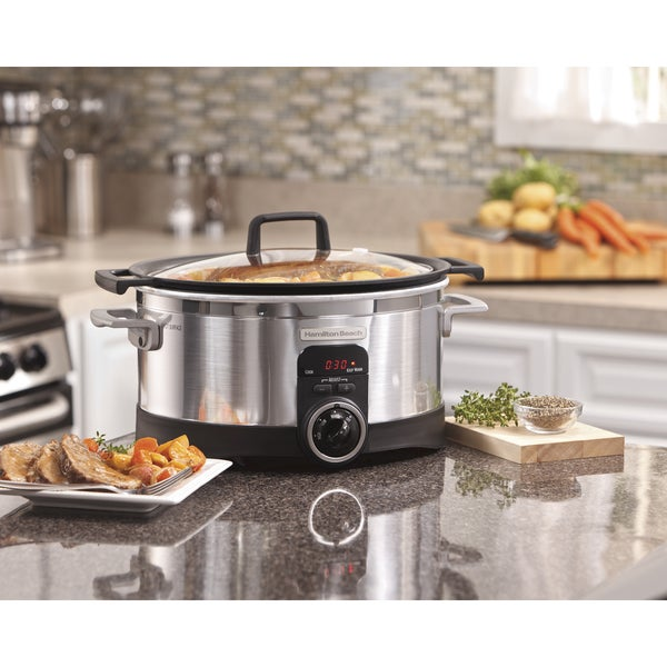 Hamilton Beach Stainless Steel 6-quart Programmable Searing Slow Cooker