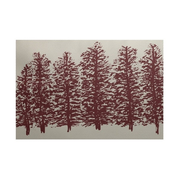 Through the Woods Flower Print Rug (3' x 5')