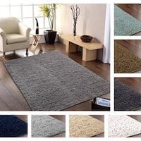 Hand-woven Flokati Wool Shag Rug (8' x 10') - 8' x 10'