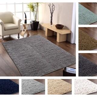 Hand-woven Flokati Wool Shag Rug (8' x 10')
