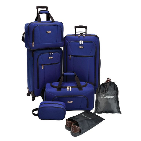 Elite 7 Piece Expandable Spinner Luggage Set