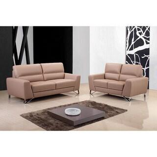 Aria Leather Sofa Set