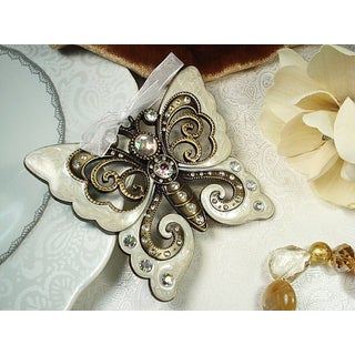 D'Lusso Designs Metal Butterfly Ornament