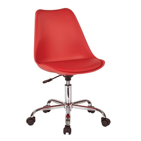 OSP Home Furnishings Emerson Office Chair with Pneumatic Chrome Base