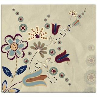 Designs Post Bound Scrapbook 12inX12inFolk Floral