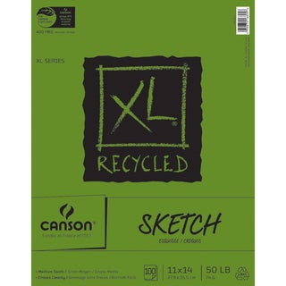 Canson XL Recycled Sketch Paper Pad 11inX14in100 Sheets