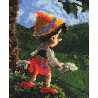 Latch Hook Kit 21inX26inPinocchio Wishes Upon A Star