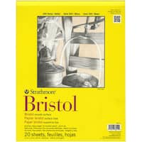 Strathmore Bristol Smooth Paper Pad 11inX14in20 Sheets