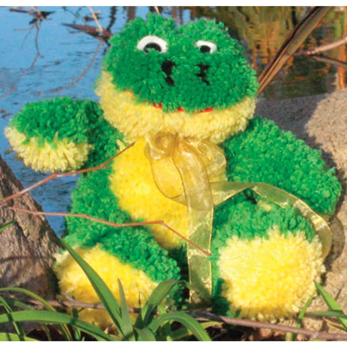 MCG Huggables Stuffed Toy Latch Hook Kit 14inFrog (Frog)