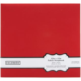 Colorbok Fabric Post Bound Album 12inX12inRed