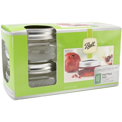 Ball Wide Mouth Canning Jars 4/PkgHalf Pint