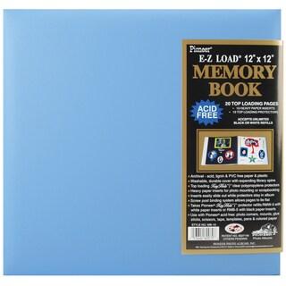 Pastel Leatherette Post Bound Album 12inX12inBaby Blue
