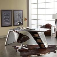 Lazzaro Leather Lindbergh Bomber Wing Desk
