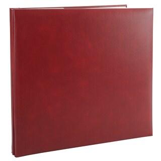 Leatherette Post Bound Album 12inX12inBurgundy