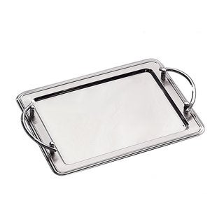 Elegance Stainless Steel Rectangular Tray with Handles