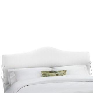 Skyline Furniture Twill White Slipcover Headboard
