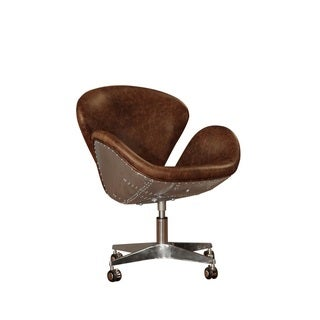 Lazzaro Leather Timeless Bomber Desk Chair