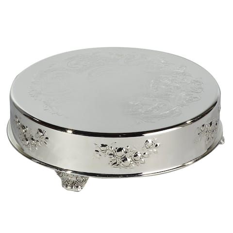 Heim Concept 14-inch Silver-plated Round Cake Plateau