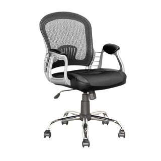 CorLiving LOF-208-O Black Leatherette/ Mesh Executive Office Chair
