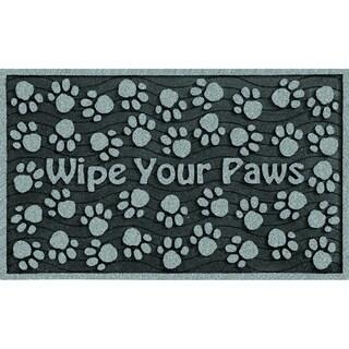 30-inch Outdoor 'Wipe Your Paws' Grey Doormat