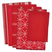 5-piece Contemporary Print Dishtowel Set