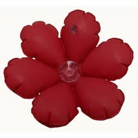 Inflatable Flower Terry Bath Cushion – Red (Set of 2)