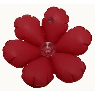 Inflatable Flower Terry Bath Cushion  Red (Set of 2)