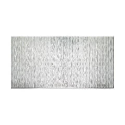 Fasade Vertical Ripple Brushed Aluminum 4-foot x 8-foot Wall Panel