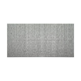 Fasade Vertical Ripple Argent Silver 4-foot x 8-foot Wall Panel