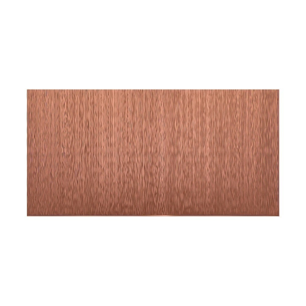 Fasade Vertical Ripple Argent Copper 4-foot x 8-foot Wall Panel (4 x 8)