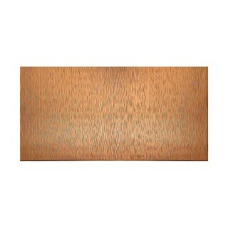 Fasade Vertical Ripple Polished Copper 4-foot x 8-foot Wall Panel
