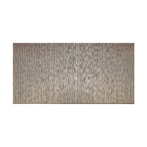 Fasade Vertical Ripple Brushed Nickel 4-foot x 8-foot Wall Panel