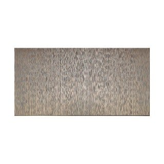 Fasade Vertical Ripple Brushed Nickel 4-foot x 8-foot Wall Panel